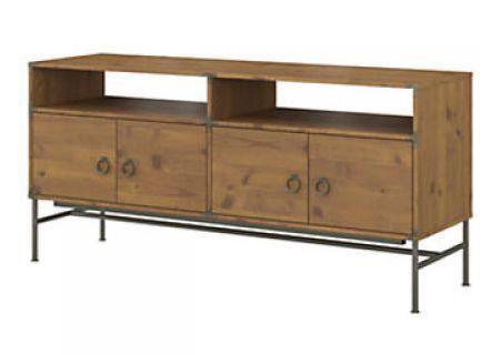 "Bush Furniture Vintage Golden Pine Ironworks 60"" TV Stand - KI50106-03"