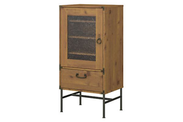 Bush Furniture Vintage Golden Pine Ironworks Audio Storage Cabinet - KI50107-03