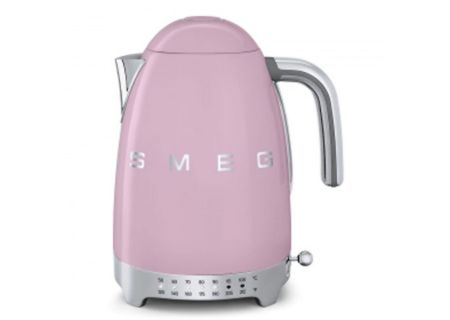 Smeg 50s Retro Style Aesthetic Pink Variable Temperature Electric Kettle - KLF02PKUS