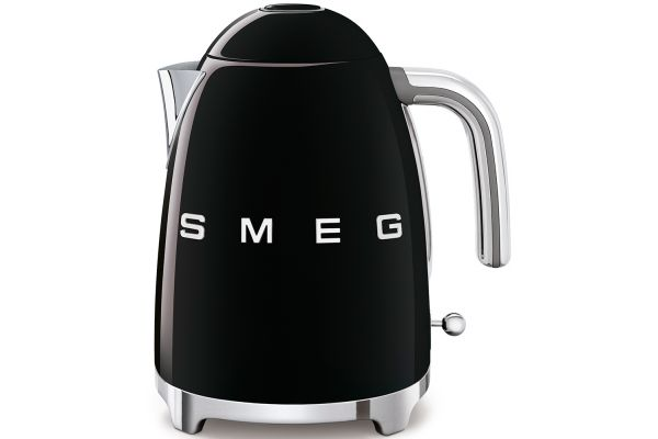 Smeg 50s Retro Style Black Electric Kettle - KLF03BLUS