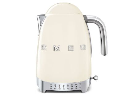 Smeg 50s Retro Style Aesthetic Cream Variable Temperature Electric Kettle - KLF04CRUS