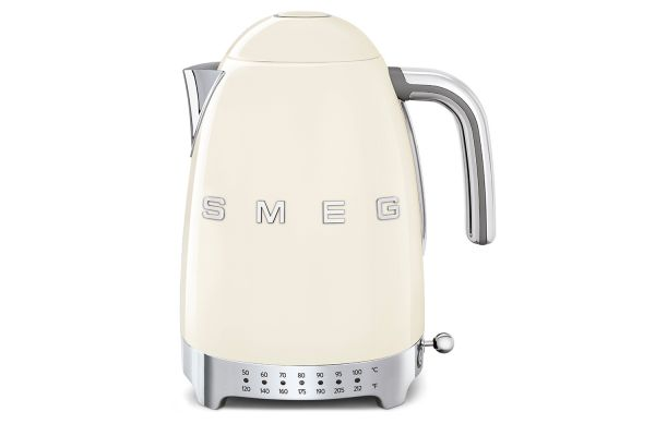 Large image of Smeg 50s Retro Style Aesthetic Cream Variable Temperature Kettle - KLF04CRUS