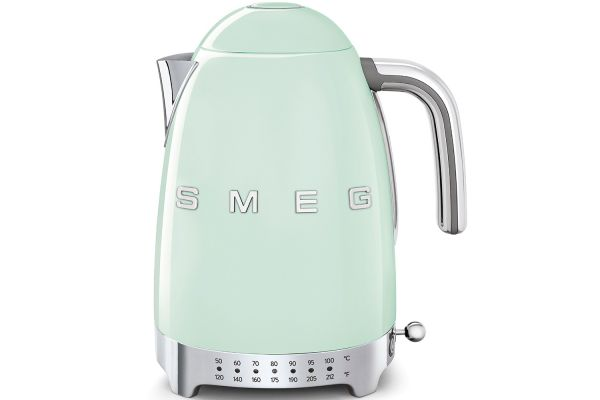 Large image of Smeg 50's Retro Style Aesthetic Pastel Green Variable Temperature Kettle - KLF04PGUS