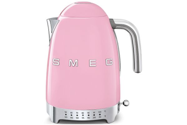Large image of Smeg 50's Retro Style Aesthetic Pink Variable Temperature Kettle - KLF04PKUS