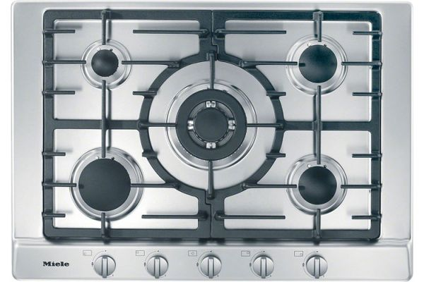"Large image of Miele 30"" Stainless Steel Gas Cooktop - 10735660"