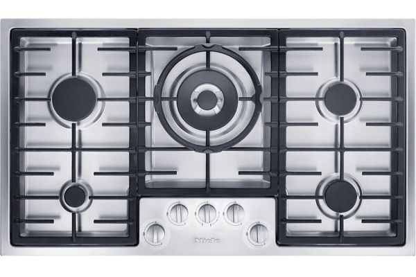 """Large image of Miele 36"""" Stainless Steel Gas Cooktop - KM2355LP"""