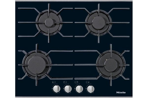 "Large image of Miele Stainless Steel 24"" 4 Burner Natural Gas Cooktop - 09272050"
