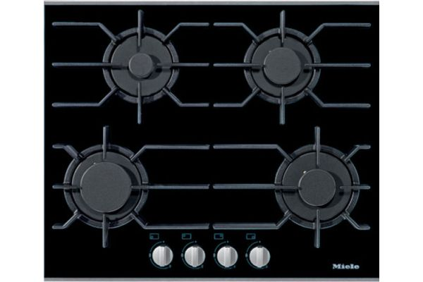 """Large image of Miele Stainless Steel 24"""" 4 Burner Liquid Propane Gas Cooktop - 09272060"""
