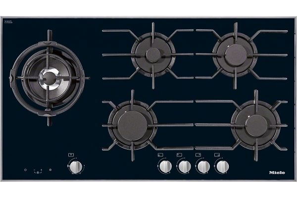 "Large image of Miele Black Glass 36"" 5 Burner Natural Gas Cooktop - 09272070"