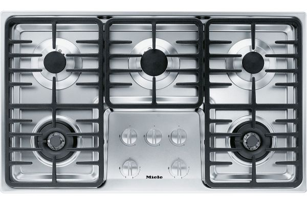 """Large image of Miele 36"""" Gas Cooktop - Stainless Steel Finish - 06792810"""