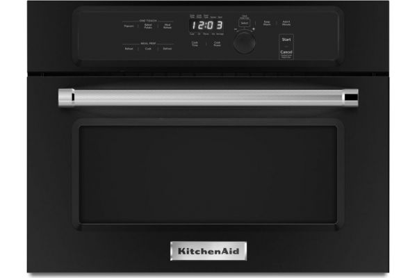 """Large image of KitchenAid 24"""" Black Built In Microwave Oven - KMBS104EBL"""