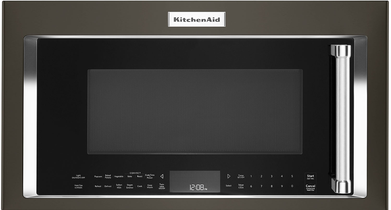 Kitchenaid Khmc1857wss kitchenaid black stainless microwave oven - kmhc319ebs