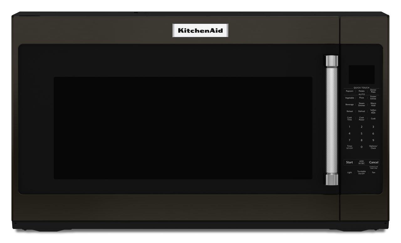 kitchenaid black stainless microwave - kmhs120ebs