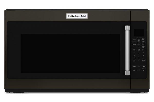 "Large image of KitchenAid 30"" Black Stainless Steel Over-The-Range Microwave - KMHS120EBS"