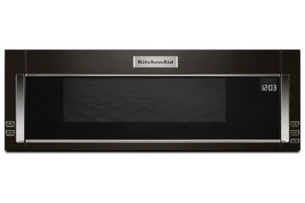 "KitchenAid 30"" Black Stainless Steel Low Profile Over-The-Range Microwave Oven - KMLS311HBS"