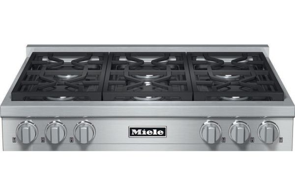 "Large image of Miele 36"" Liquid Propane Stainless Steel Rangetop - 10833820"