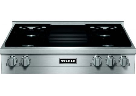 "Miele 36"" Gas Stainless Steel Rangetop With Grill - KMR11351GRG"