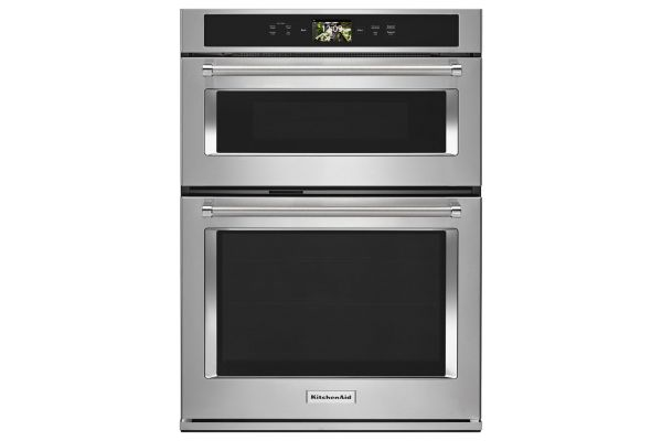 "Large image of KitchenAid 30"" Stainless Steel Built-In Smart Oven + Combination Oven - KOCE900HSS"