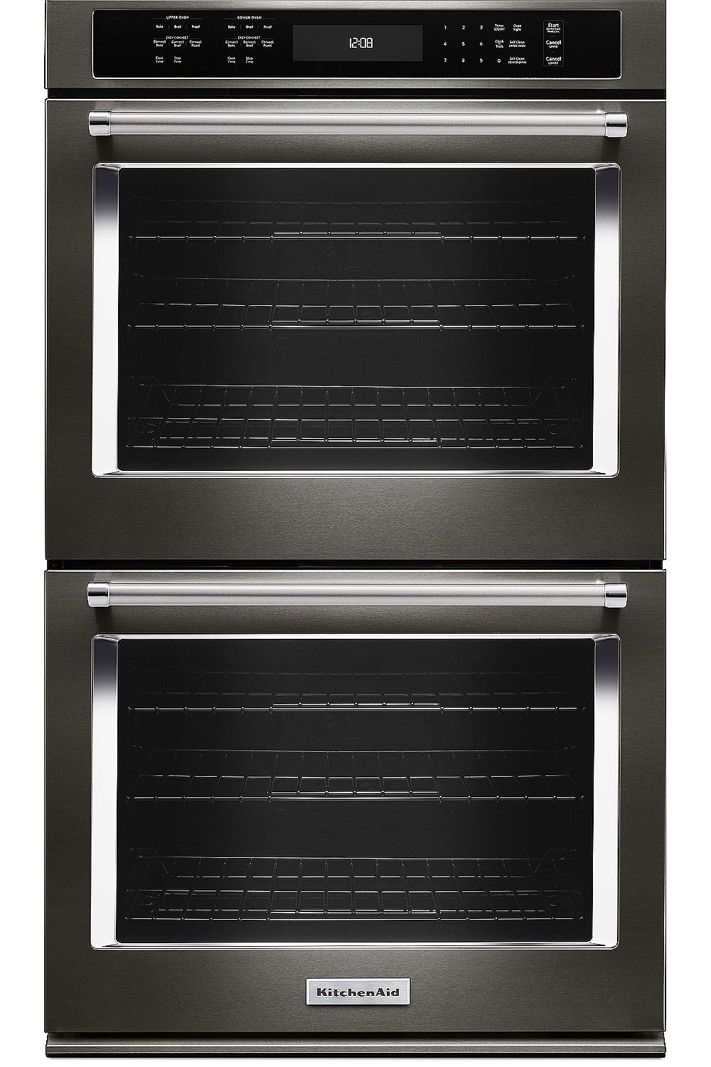kitchenaid 27 black stainless steel double wall oven kode507ebs - Kitchen Aid Oven
