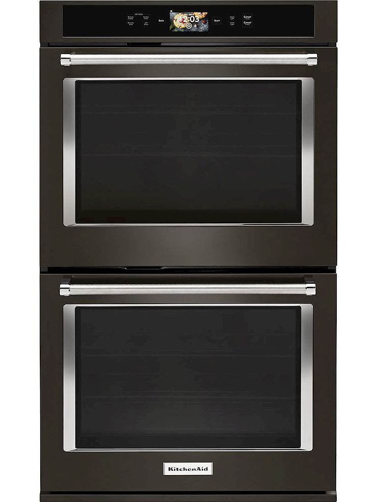 Kitchenaid Black Stainless Double Wall Oven Kode900hbs
