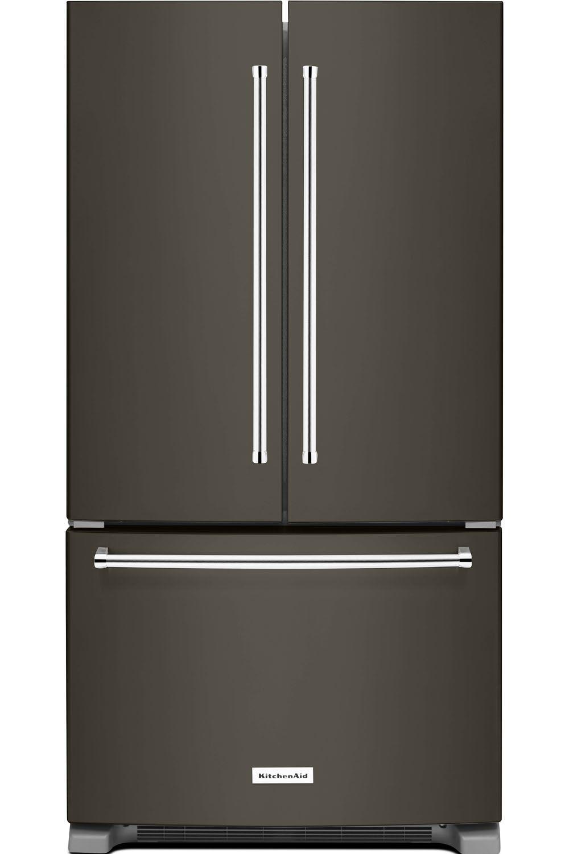 KitchenAid Black Stainless Refrigerator - KRFC300EBS