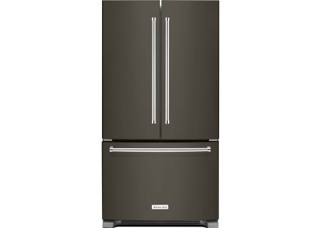KitchenAid Black Stainless Steel Counter-Depth French Door Refrigerator - KRFC300EBS