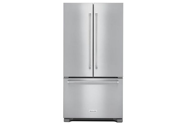 Large image of KitchenAid Stainless Steel Counter Depth French Door Refrigerator - KRFC302ESS
