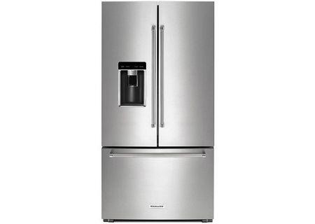 KitchenAid Stainless Steel Counter-Depth French Door Refrigerator - KRFC604FSS