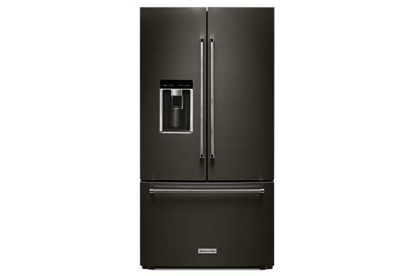 Large image of KitchenAid 23.8 Cu. Ft. PrintShield Black Stainless Steel Counter-Depth French Door Refrigerator - KRFC704FBS