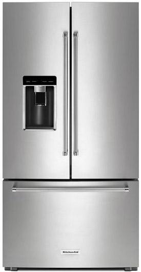 Kitchenaid 23 8 Cu Ft Printshield French Door Refrigerator