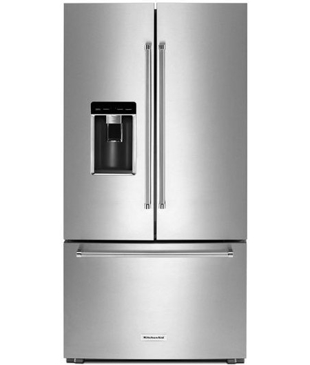 20cu Kitchenaid Counter Depth French Door Trio Refrigerator