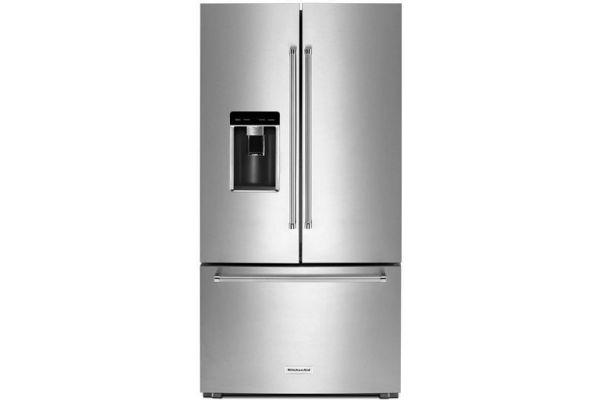 KitchenAid 23.8 Cu. Ft. Stainless Steel Counter-Depth French Door Refrigerator - KRFC704FSS