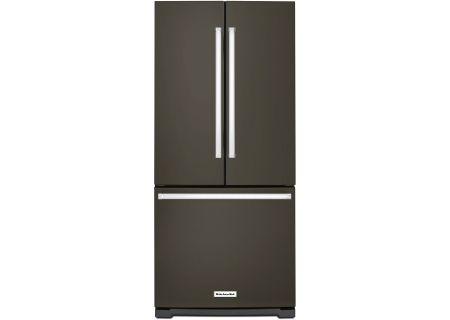 KitchenAid Black Stainless Steel French Door Refrigerator - KRFF300EBS