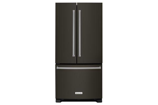 KitchenAid 22 Cu. Ft. Black Stainless Steel French Door Bottom Freezer Refrigerator  - KRFF302EBS