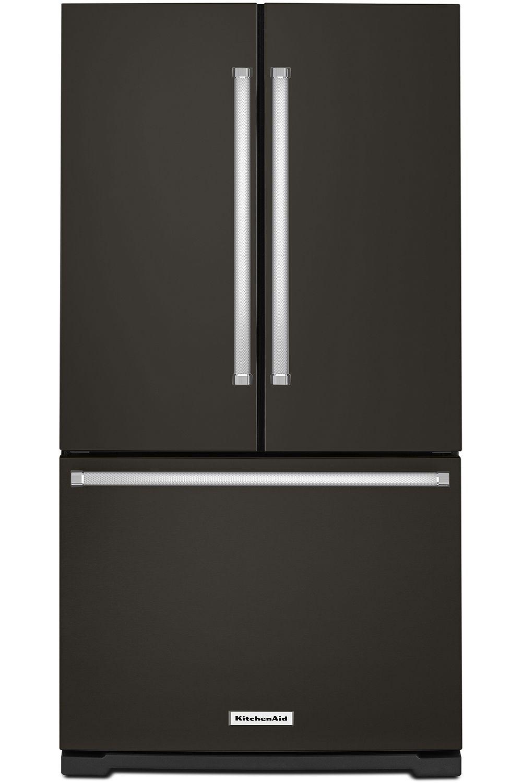 KitchenAid Black Stainless French Door KRFF305EBS