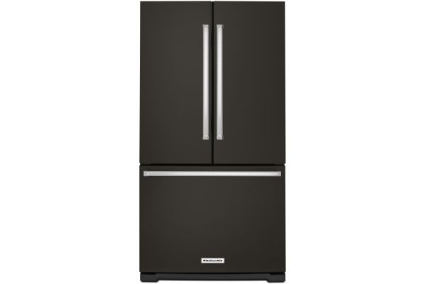 KitchenAid Black Stainless Steel French Door Refrigerator - KRFF305EBS