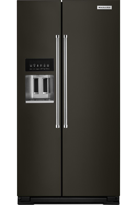 Kitchenaid cabinet depth refrigerator - Kitchenaid Krsc503ebs Side By Side Refrigerators