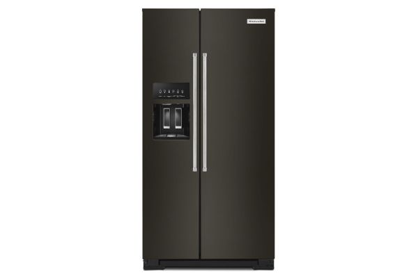 KitchenAid 22.6 Cu. Ft. Black Stainless Steel Counter-Depth Side-By-Side  Refrigerator
