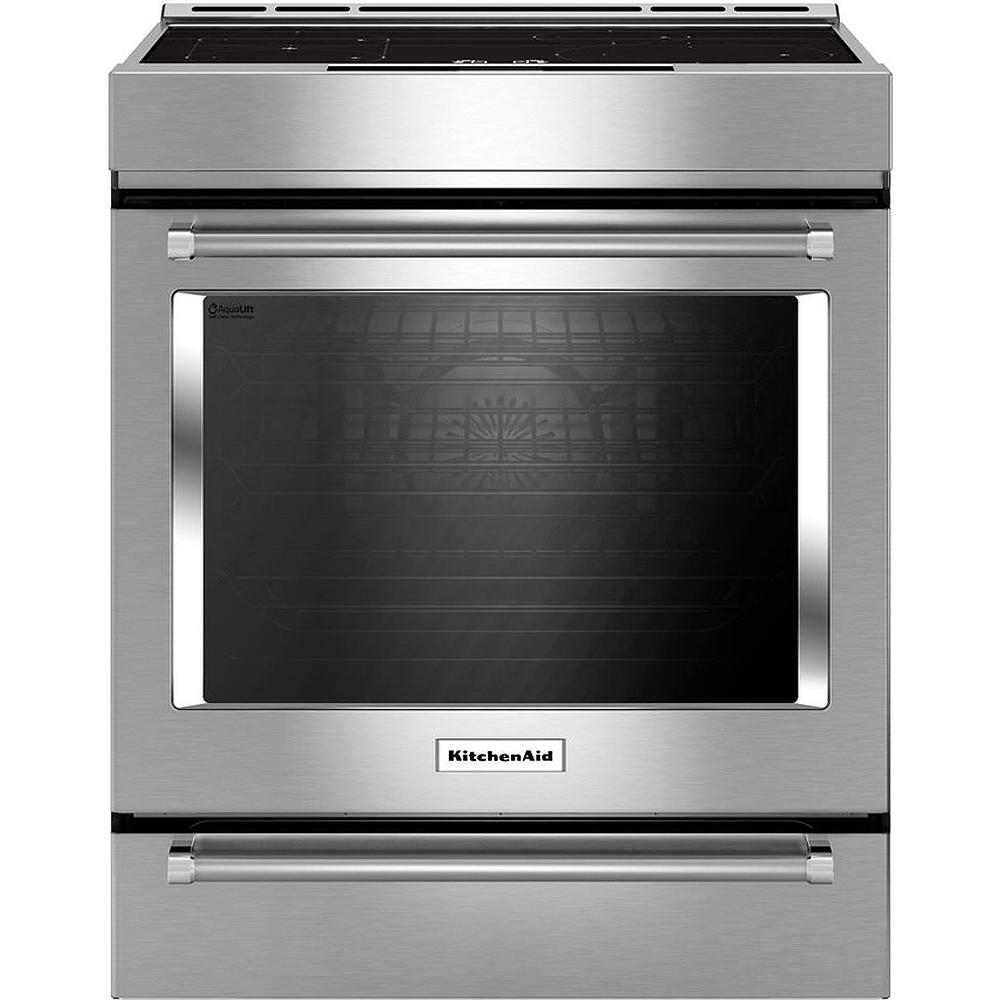 Kitchenaid Appliances White Kitchenaid Stainless Steel Induction Range  Ksib900Ess