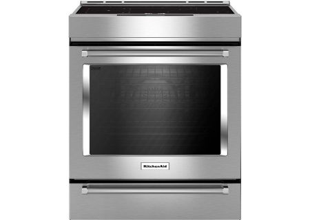 KitchenAid Stainless Steel Slide-In Electric Induction Range - KSIB900ESS