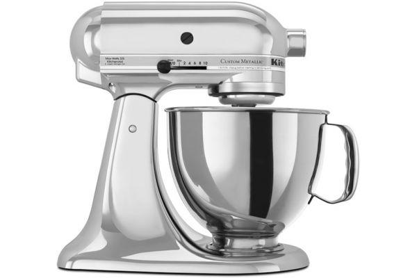 Large image of KitchenAid Custom Metallic 5 Qt. Chrome Stand Mixer - KSM152PSCR