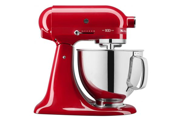 KitchenAid 100 Year Limited Edition Queen of Hearts Passion Red 5 Quart Tilt-Head Stand Mixer - KSM180QHSD