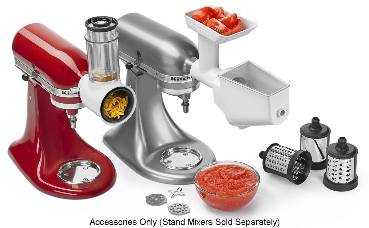 KitchenAid Fresh Prep Slicer/Shredder & Grinder/Strainer Attachment Pack