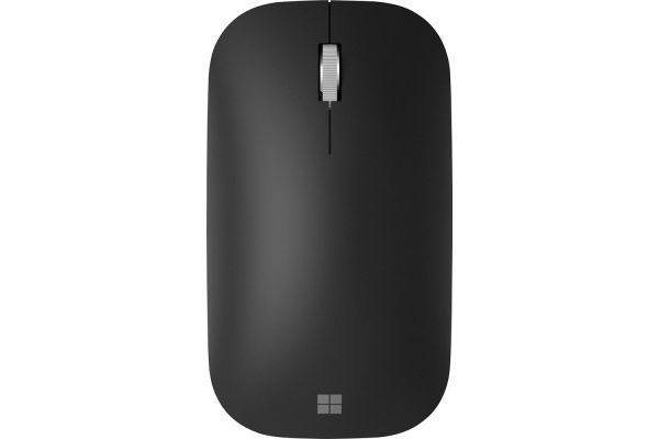 Large image of Microsoft Black Modern Mobile Wireless Mouse - KTF-00013