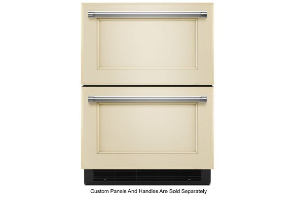 "Large image of KitchenAid 24"" Panel Ready Refrigerator/Freezer Drawer - KUDF204EPA"