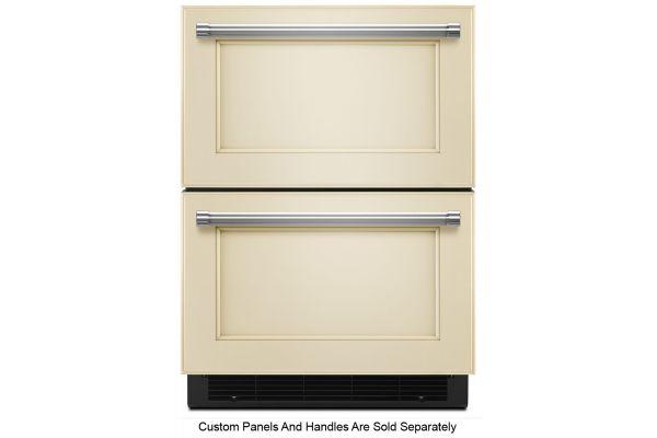 """Large image of KitchenAid 24"""" Panel Ready Double Refrigerator Drawer - KUDR204EPA"""