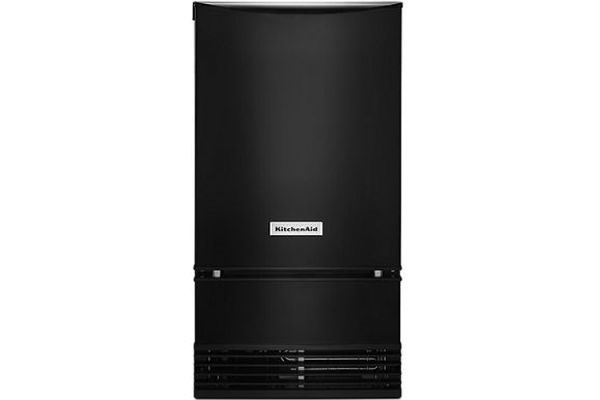 "Large image of KitchenAid 18"" Black Automatic Ice Maker - KUID508HBL"