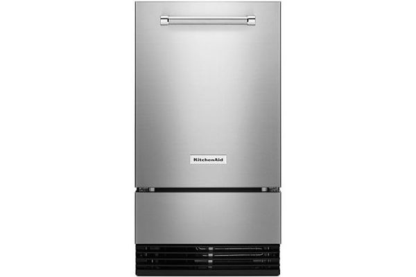 "Large image of KitchenAid 18"" Stainless Steel Automatic Ice Maker - KUID508HPS"