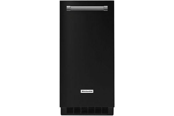 "Large image of KitchenAid 15"" Black Automatic Ice Maker - KUIX335HBL"
