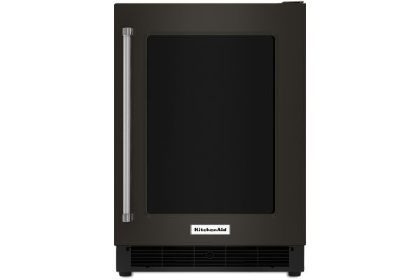 "KitchenAid 24"" Black Stainless Steel Undercounter Refrigerator - KURR304EBS"